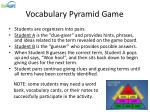 vocabulary pyramid game