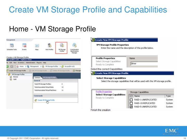 Create VM Storage Profile