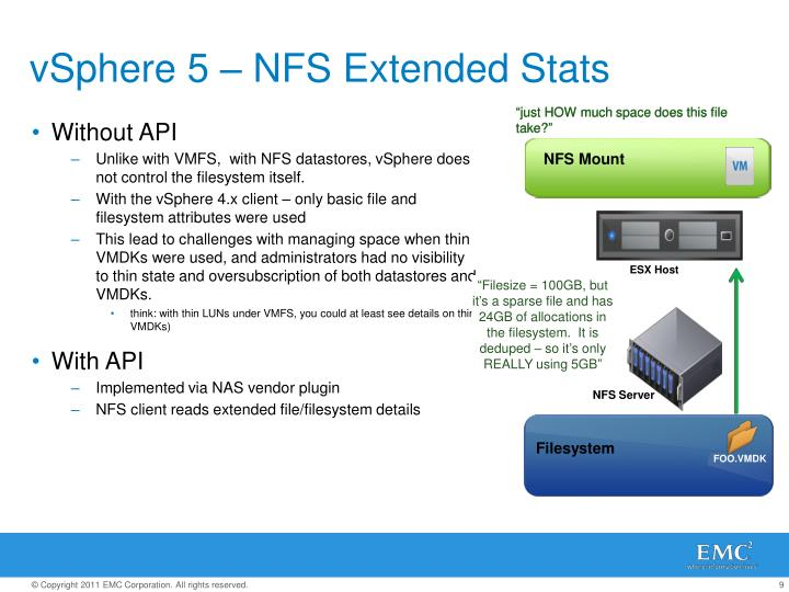 vSphere 5 – NFS Extended Stats