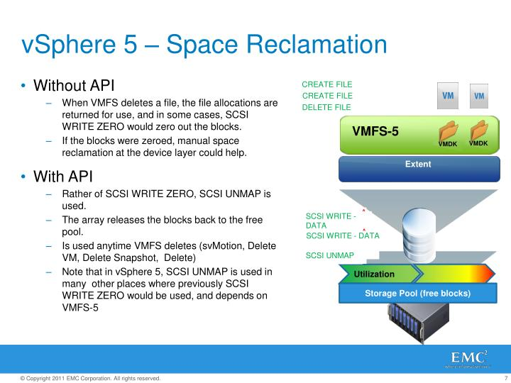 vSphere 5 – Space Reclamation