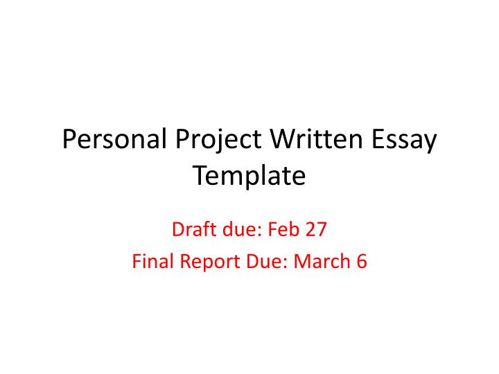 final project personal topics presentation What project management software programs do--or should do presentation there are numerous project management programs out there, ranging from simple scheduling programs to bloated behemoths that do everything but tap dance at the company picnic and wash windows in the corporate boardroom.
