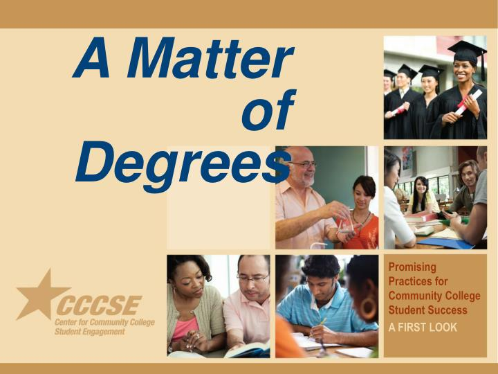 a matter of degrees n.