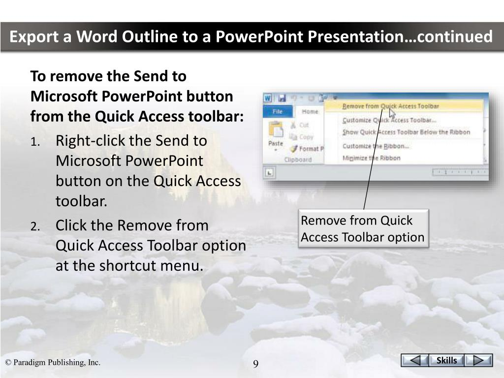 PPT - Integrating Programs Word, Excel, and PowerPoint