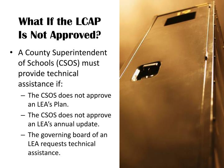 What If the LCAP