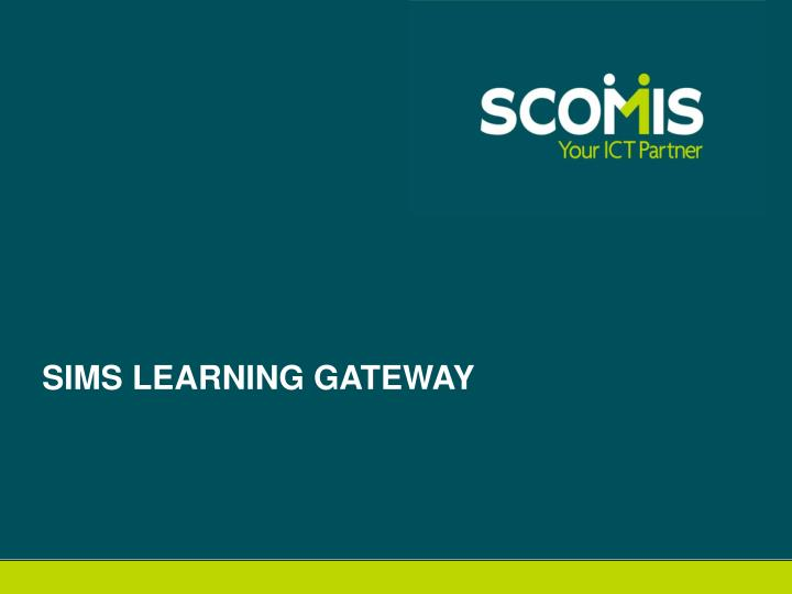sims learning gateway n.