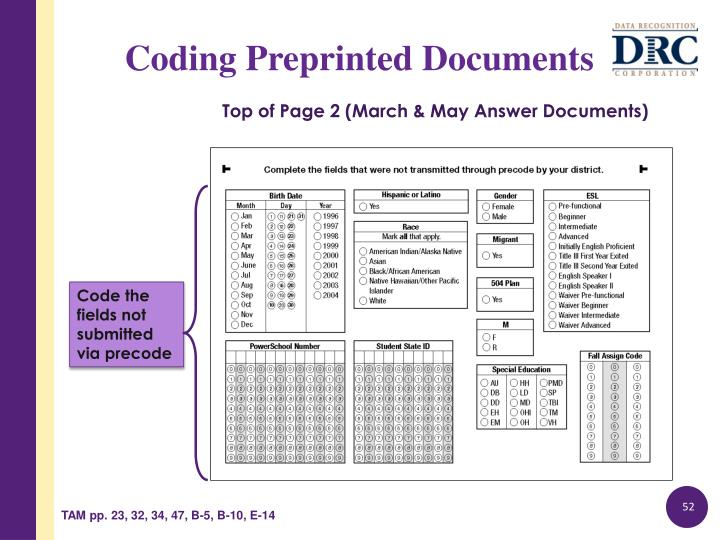 Top of Page 2 (March & May Answer Documents)