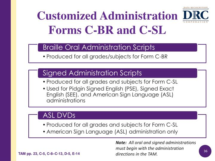 Customized Administration
