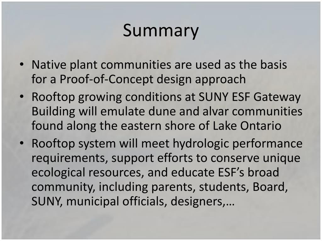 PPT - Using Native Plant Communities as a Template for Green