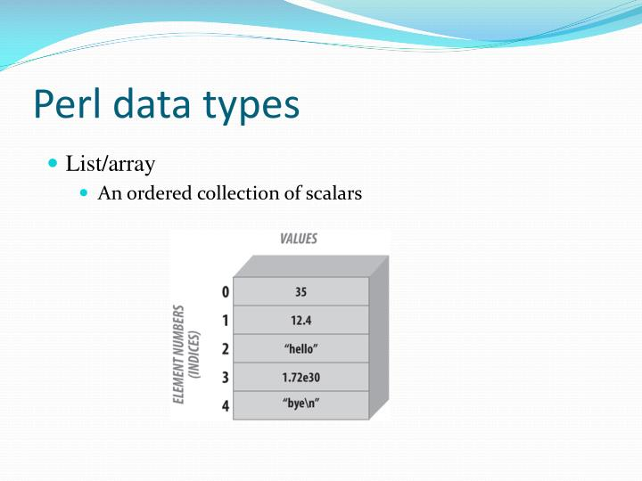 Perl data types