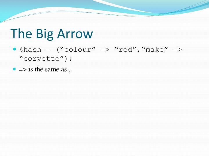 The Big Arrow