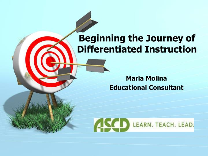 beginning the journey of differentiated instruction n.