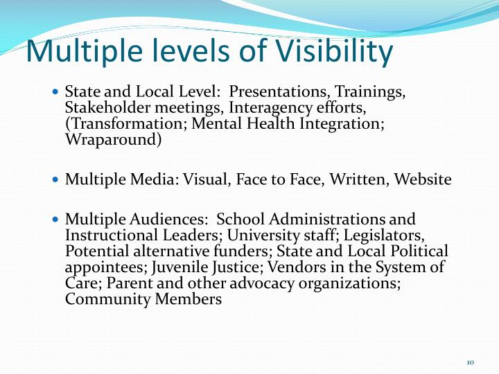 Multiple levels of Visibility