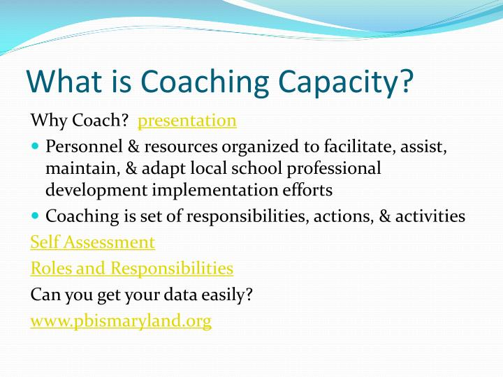What is Coaching Capacity?