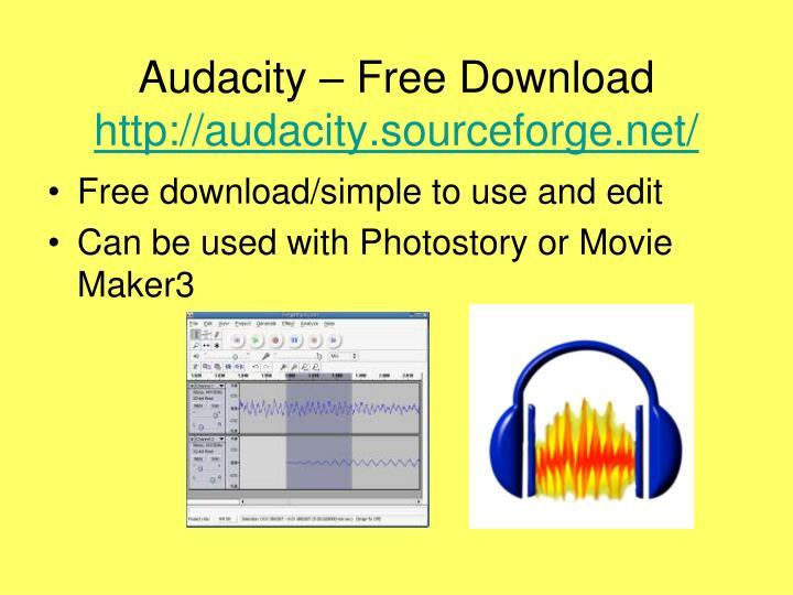 Audacity – Free Download
