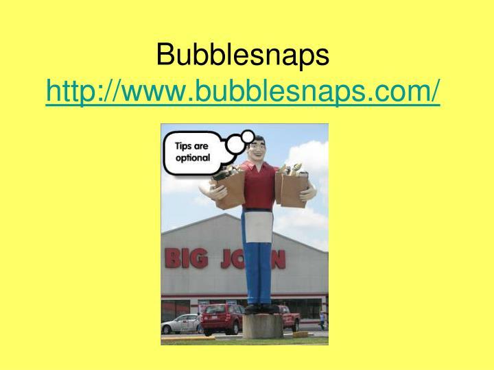 Bubblesnaps