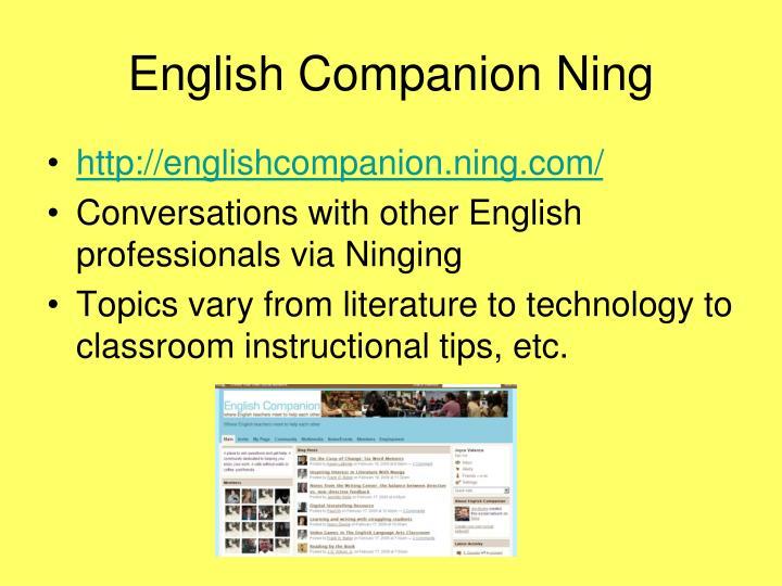 English Companion Ning