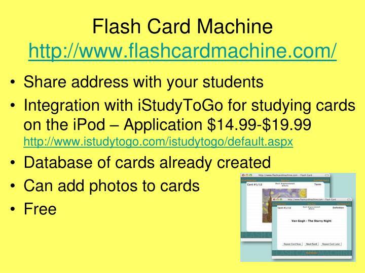 Flash Card Machine