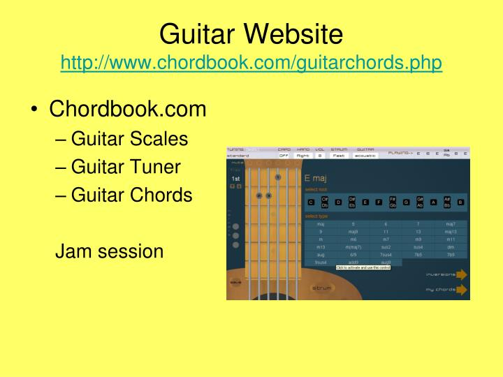 Guitar Website