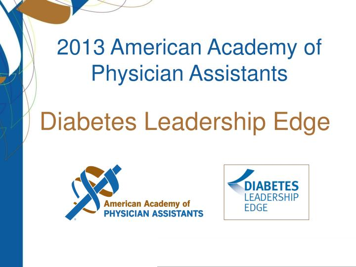 2013 american academy of physician assistants