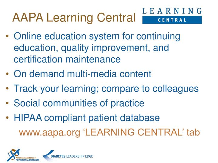 AAPA Learning Central