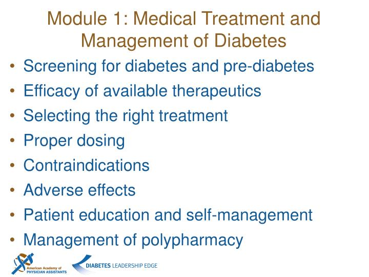Module 1: Medical Treatment and