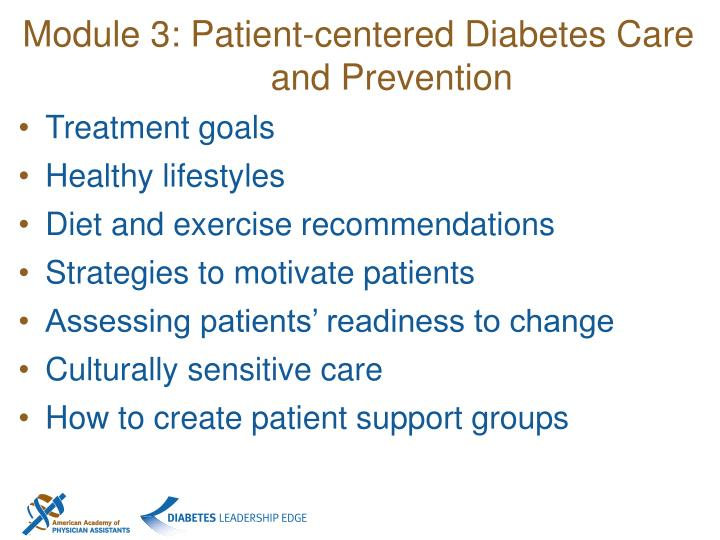 Module 3: Patient-centered Diabetes Care