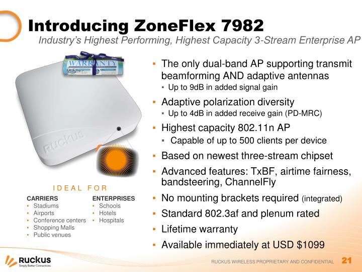 Introducing ZoneFlex 7982