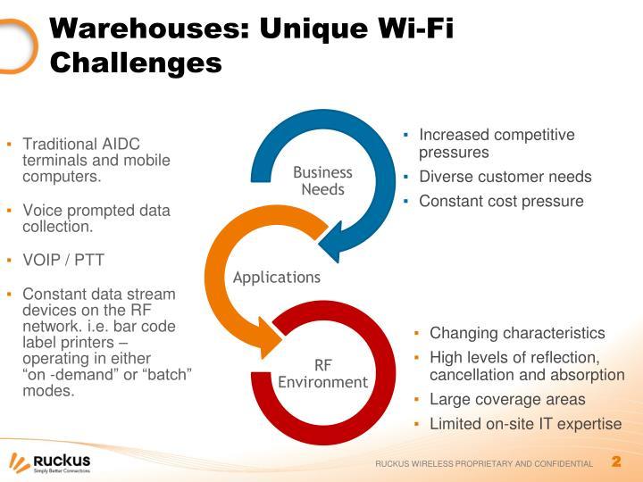 Warehouses unique wi fi challenges