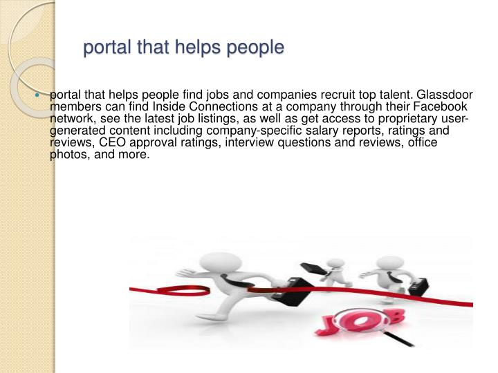 Portal that helps people
