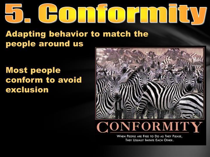 5. Conformity