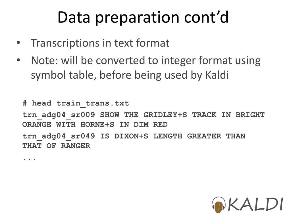 Run Kaldi Examples