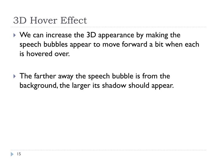 3D Hover Effect