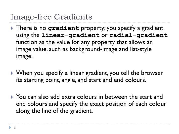 Image free gradients1