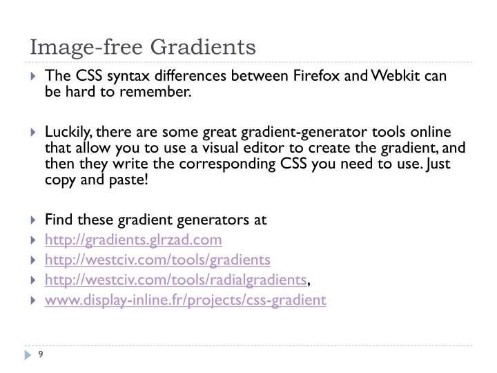 Image-free Gradients