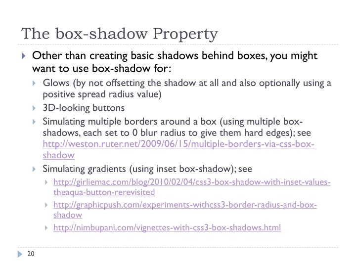 The box-shadow Property
