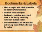 bookmarks labels