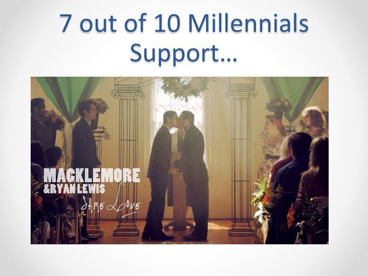7 out of 10 Millennials Support…