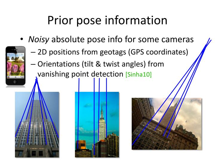 Prior pose information