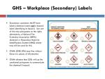 ghs workplace secondary labels