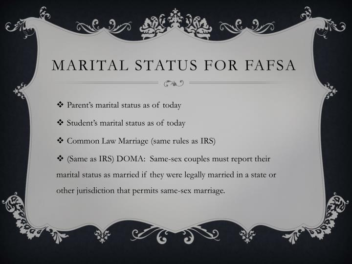 Marital status for