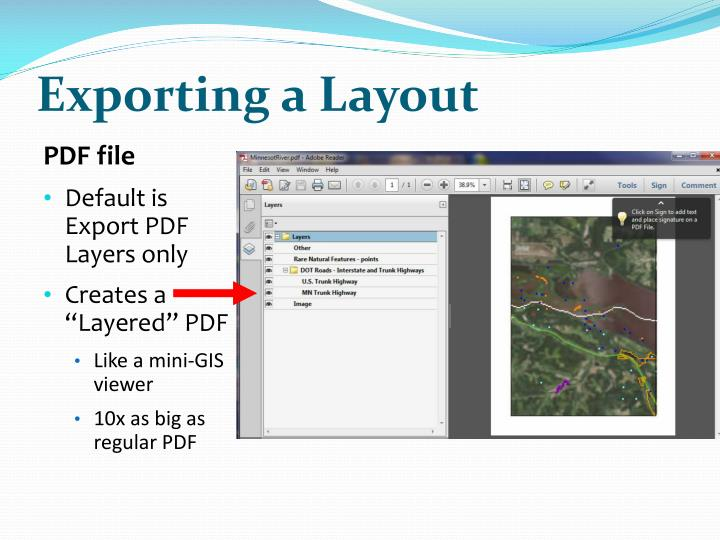 Exporting a Layout