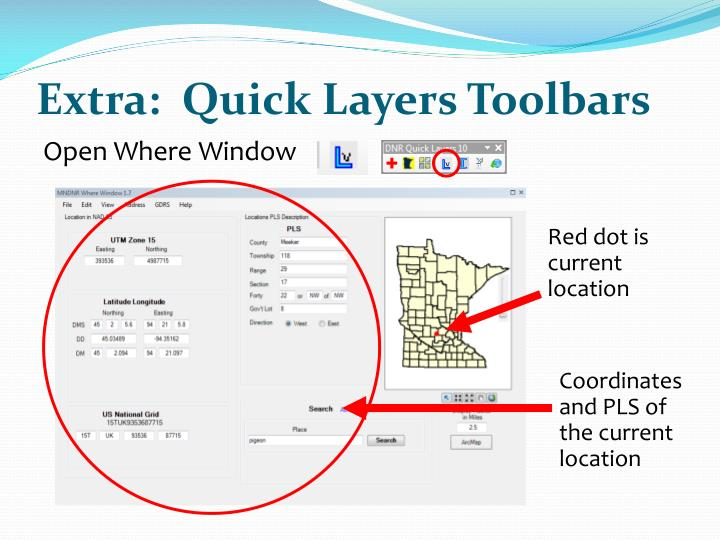 Extra:  Quick Layers Toolbars