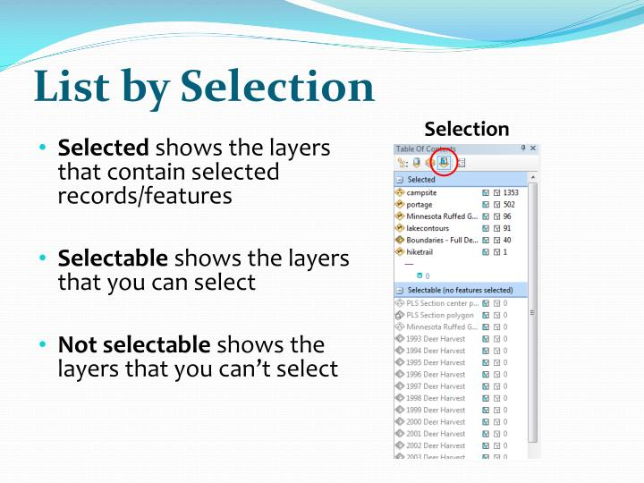 List by Selection