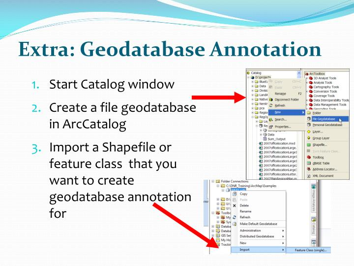 Extra: Geodatabase Annotation
