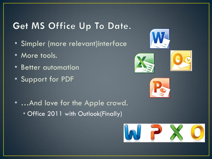 Get MS Office Up To Date.