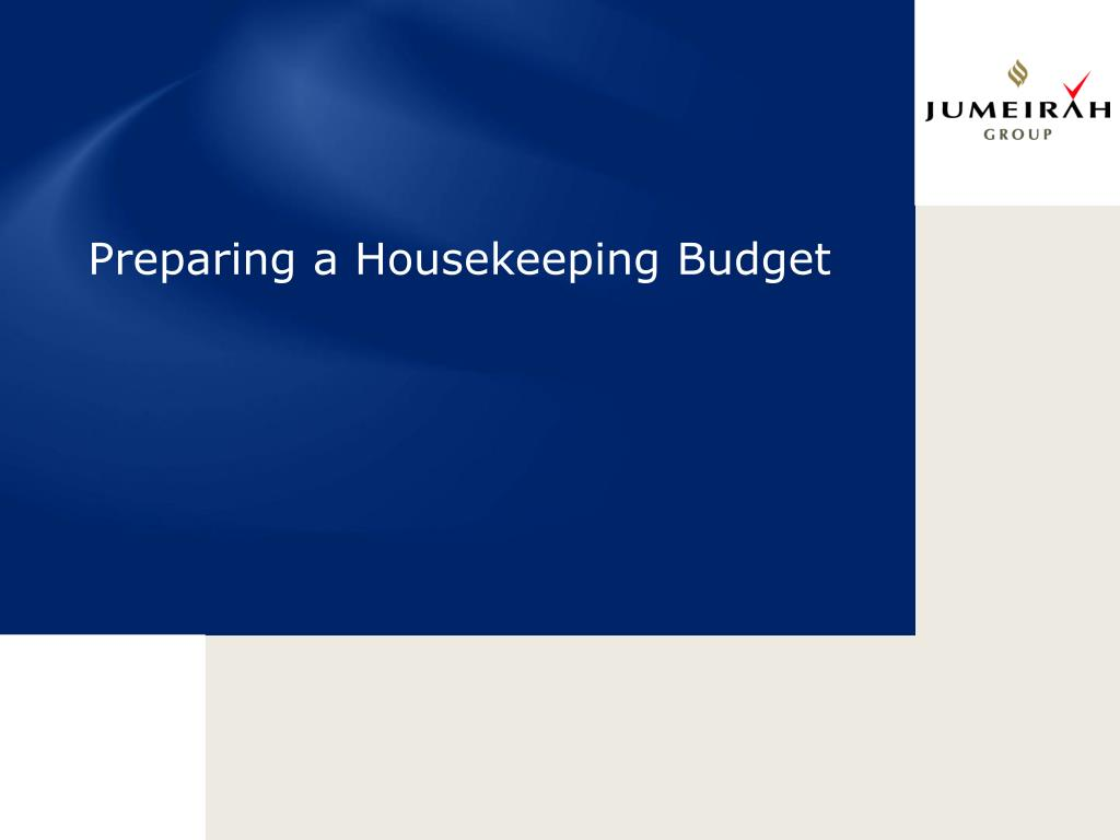 ppt preparing a housekeeping budget powerpoint presentation id