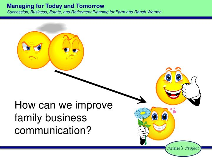 How can we improve family business communication?