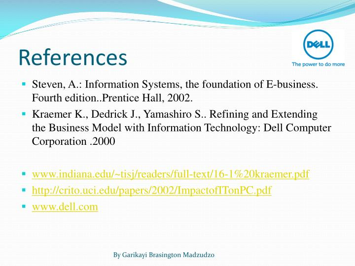 what information system does dell use