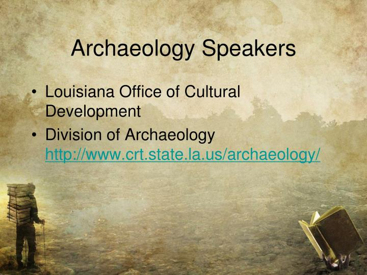 Archaeology Speakers