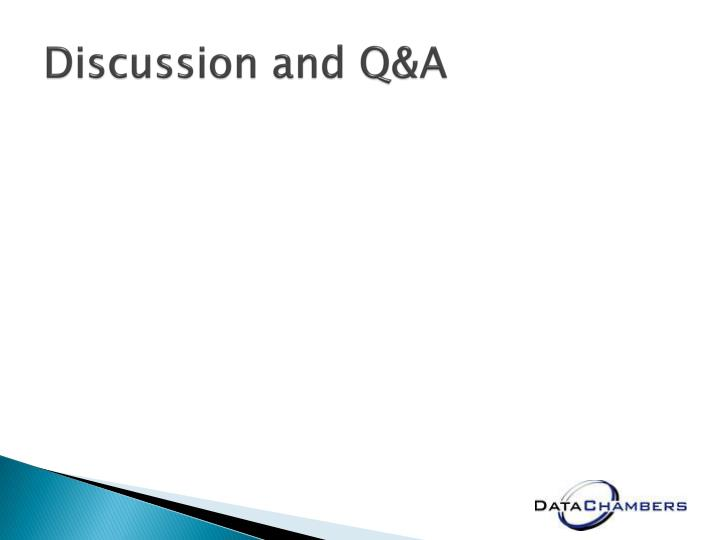 Discussion and Q&A